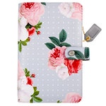 Websters Pages - Color Crush Collection - Personal Planner Binder - Grey Floral