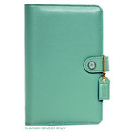 Websters Pages - Color Crush Collection - Personal Planner Binder - Light Teal