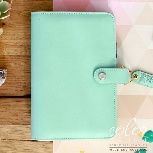 Websters Pages - Color Crush Collection - Personal Planner Binder - Mint