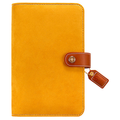 Websters Pages - Color Crush Collection - Personal Planner Binder - Mustard Suede - Binder Only