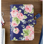 Websters Pages - Color Crush Collection - Personal Planner Binder - Navy Floral