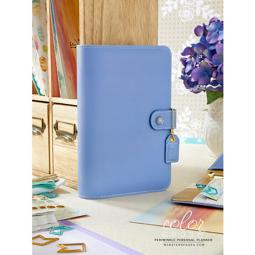 Websters Pages - Color Crush Collection - Personal Planner Binder - Periwinkle