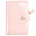 Websters Pages - Color Crush Collection - Personal Planner Binder - Patent Leather Petal Pink