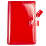 Websters Pages - Color Crush Collection - Personal Planner Binder - Patent Leather Red