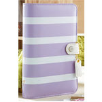 Websters Pages - Color Crush Collection - Personal Planner Binder - Lavender Stripe