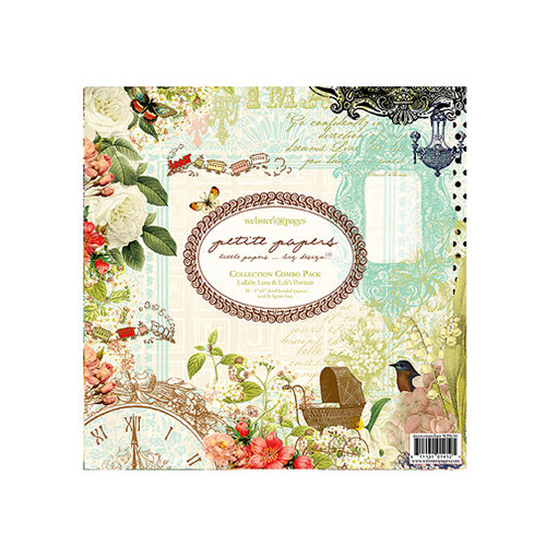 Websters Pages - Petite Papers - 6 x 6 Collection Combo Paper Pack - Lullaby Lane and Lifes Portrait