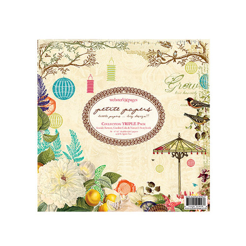 Websters Pages - Petite Papers - 6 x 6 Collection Triple Paper Pack - Garden Gala Seaside Retreat and Natures Storybook