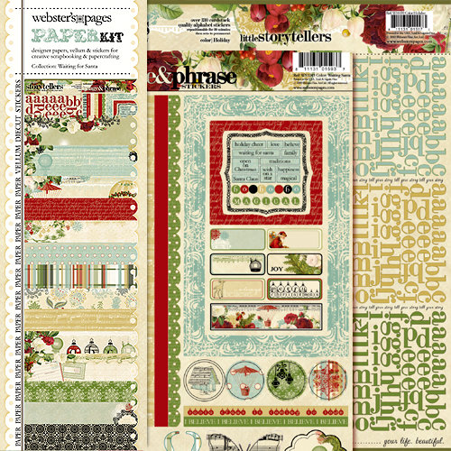 Websters Pages - Waiting for Santa Collection - Christmas - 12 x 12 Paper Sampler Kit