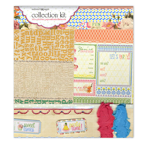 Websters Pages - Let's Celebrate Collection - 12 x 12 Paper Sampler Kit