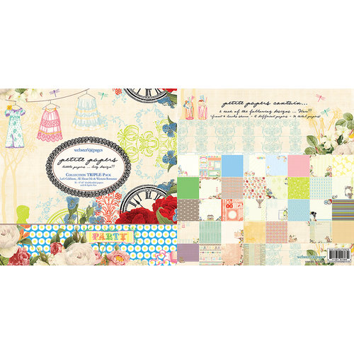 Websters Pages - Petite Paper - 6 x 6 Collection Combo Paper Pack - Western Romance All About Me and Let's Celebrate