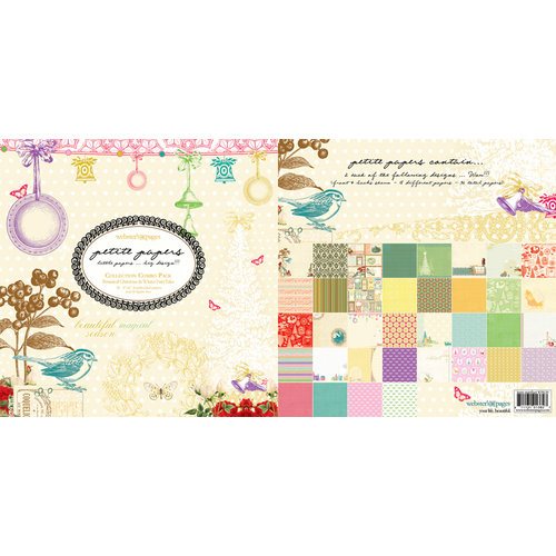 Websters Pages - Petite Paper - 6 x 6 Collection Combo Paper Pack - Winter Fairy and A Botanical Christmas