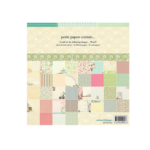Websters Pages - Petite Paper - 6 x 6 Collection Combo Paper Pack - Sunday Picnic and Poetry
