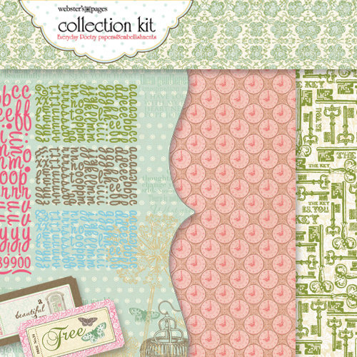 Websters Pages - Everyday Poetry Collection - 12 x 12 Paper Sampler Kit