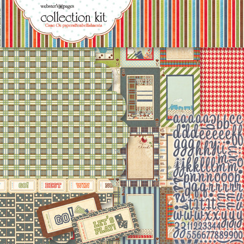 Websters Pages - Game On Collection - 12 x 12 Paper Sampler Kit