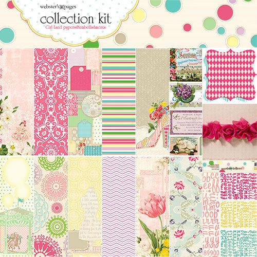 Websters Pages - Girl Land Collection - 12 x 12 Paper Sampler Kit