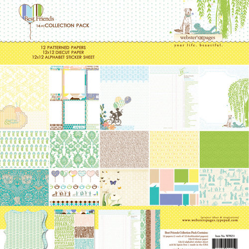 Websters Pages - Best Friends Collection - 12 x 12 Collection Pack