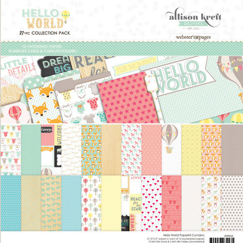 Websters Pages - Hello World Collection - 12 x 12 Collection Pack