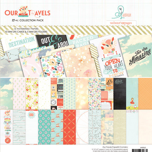 Websters Pages - Our Travels Collection - 12 x 12 Collection Pack
