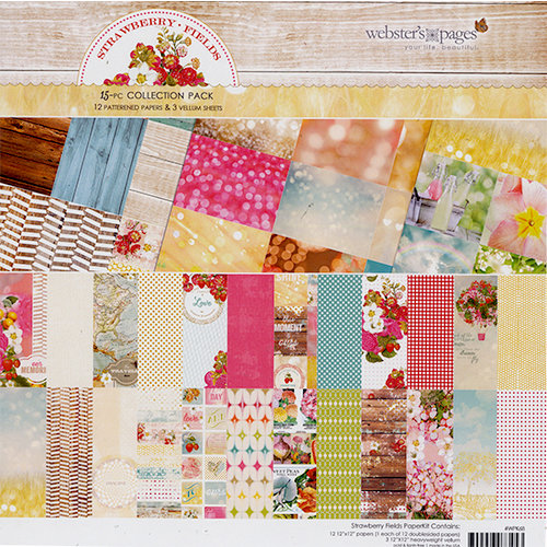 Websters Pages - Strawberry Fields Collection - 12 x 12 Collection Pack