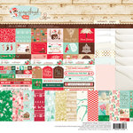 Websters Pages - Gingerbread Village Collection - Christmas - Card Kit