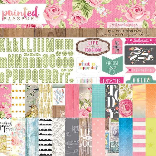 Websters Pages - Painted Passport Collection - 12 x 12 Collection Pack