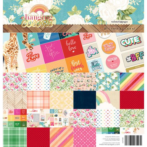 Websters Pages - Changing Colors Collection - 12 x 12 Collection Kit