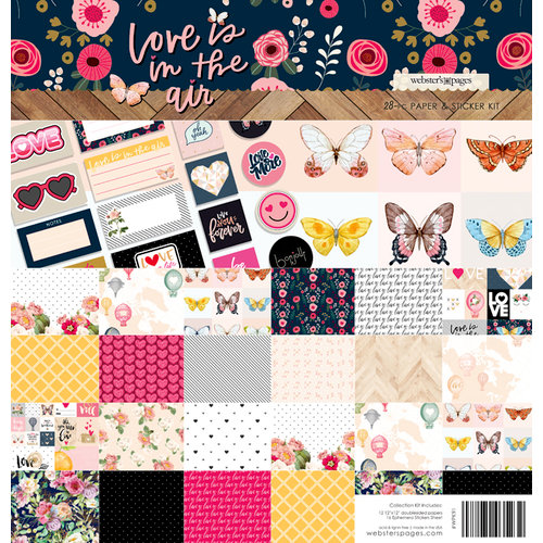 Websters Pages - Love is in the Air Collection - 12 x 12 Collection Kit