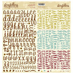 Websters Pages - Hello Beautiful Collection - Storytellers - 12 x 12 Alphabet Cardstock Stickers - Beautiful
