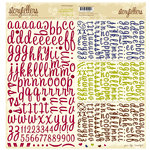 Websters Pages - A Sweet Life Collection - Storytellers - 12 x 12 Alphabet Cardstock Stickers - Sweet Life, BRAND NEW