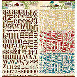 Websters Pages - WonderFall Collection - Storytellers - 12 x 12 Alphabet Cardstock Stickers - WonderFall