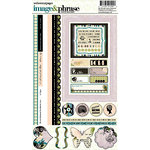 Websters Pages - Hollywood Vogue Collection - Cardstock Stickers - Image and Phrase