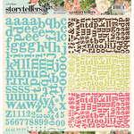 Websters Pages - Ladies and Gents Collection - Storytellers - 12 x 12 Alphabet Cardstock Stickers