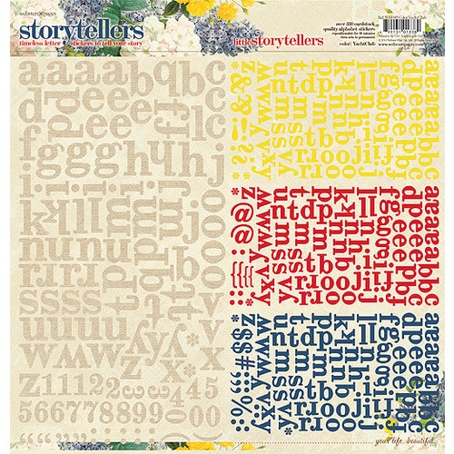 Websters Pages - Yacht Club Collection - Storytellers - 12 x 12 Alphabet Cardstock Stickers