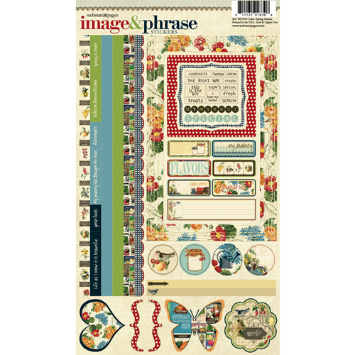 Websters Pages - Spring Market Collection - Cardstock Stickers - Image and Phrase