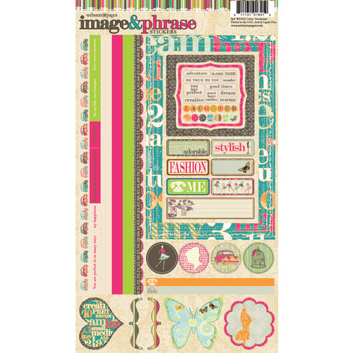 Websters Pages - Trendsetter Collection - Cardstock Stickers - Image and Phrase
