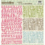 Websters Pages - Everyday Poetry Collection - Storytellers - 12 x 12 Alphabet Cardstock Stickers