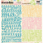 Websters Pages - The Palm Beach Collection - Storytellers - 12 x 12 Alphabet Cardstock Stickers