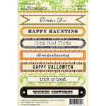 Websters Pages - Once Upon a Halloween Collection - Cardstock Stickers - Mini Messages - Sentiments
