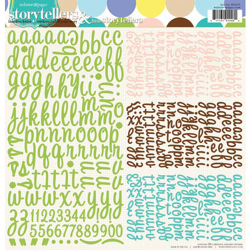 Websters Pages - Best Friends Collection - 12 x 12 Alphabet Stickers