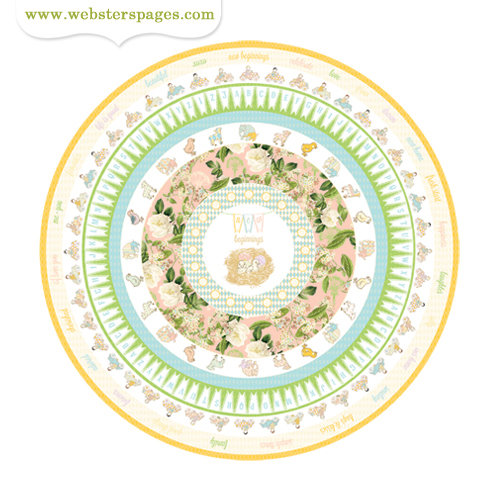 Websters Pages - New Beginnings Collection - Cardstock Stickers - Circle