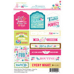 Websters Pages - Sweet Routine Collection - Cardstock Stickers - Mini Messages - Tags and Prompts