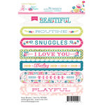 Websters Pages - Sweet Routine Collection - Cardstock Stickers - Mini Messages - Sentiments
