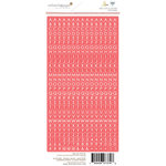 Websters Pages - Ocean Melody Collection - Cardstock Stickers - Little Letter - Coral