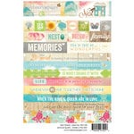 Websters Pages - Nest Collection - Cardstock Stickers - Word