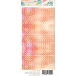 Websters Pages - Nest Collection - Cardstock Stickers - Little Letter - Sunset