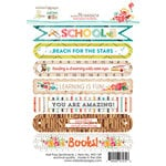 Websters Pages - Hall Pass Collection - Cardstock Stickers - Sentiments