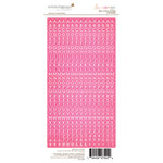 Websters Pages - Beautiful Chic Collection - Cardstock Stickers - Little Letters - Pink