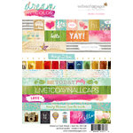 Websters Pages - Dream in Color Collection - Cardstock Stickers - Words