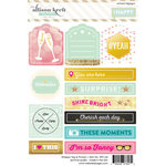 Websters Pages - Happy Collection - Cardstock Stickers - Tags and Prompts
