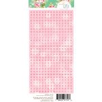 Websters Pages - Make a Wish Collection - Cardstock Stickers - Alphabet - Soft Pink